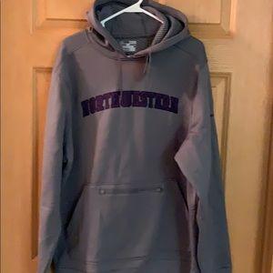 NWT Grey under armour hoodie w/ Northwestern logo